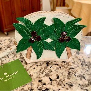Kate Spade palm tree coin purse